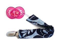 Floral Pacifier Clip - Girl Binky Clip - Pacifier Holder - Baby Shower Gift - Blue Pacifier Clip - Teething - Soothie - Paci Clip - VB0030 Pacifier Clips, Pacifier Holder, Binky, Teething, Keep It Cleaner, Baby Shower Gifts, Great Gifts, Personalized Items, Group