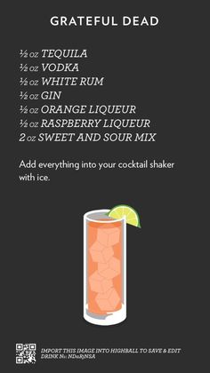 Based in Melbourne Australia / A collection of recipes I find steal or create spread out in a simple layout courtesy of the mobile app Highball. Drink Bar, Liquor Drinks, Cocktail Drinks, Beverages, Mixed Drinks Alcohol, Alcohol Drink Recipes, Fireball Recipes, Fancy Drinks, Summer Drinks