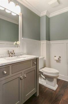 bathroom wainscot bathroom wainscoting height bathroom wainscoting ideas bathroom wainscoting height bathroom with walnut flooring and wainscoting bathroom height bathroom wainscoting height Wainscoting Height, Wainscoting Bathroom, Bathroom Renos, Wainscoting Ideas, Bathroom Ideas, Bathroom Designs, Bathroom Plans, Painted Wainscoting, Bath Ideas