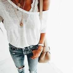 Swans Style is the top online fashion store for women. Shop sexy club dresses, jeans, shoes, bodysuits, skirts and more. Denim Fashion, Love Fashion, Fashion Outfits, Womens Fashion, Mode Style, Style Me, Spring Summer Fashion, Spring Outfits, Casual Outfits
