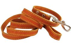 Genuine Thick Leather Classic Dog Leash 58 Wide 6 Ft Medium Large -- Click image for more details.