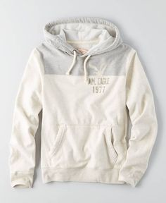 American Eagle Signature Football Hoodie, Men's, White