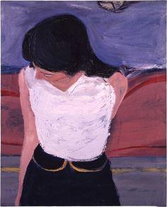 From Richard Diebenkorn Foundation, Richard Diebenkorn, Girl in White Blouse (1962), Oil on canvas, 83.2 × 67.3 cm