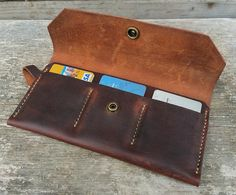 Hey, I found this really awesome Etsy listing at https://www.etsy.com/ru/listing/243183430/womens-leather-wallet-brown-leather