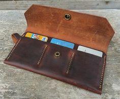 Portefeuille en cuir Womens / portefeuille en cuir brun / The Ingalls