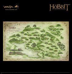Map of Hobbiton by Weta Workshop