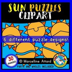 #SUN #PUZZLES #CLIPART: #SELF-CORRECTING #PUZZLE #TEMPLATES: #SUMMER CLIPART