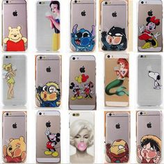 New Fashion cute cartoon back case cover for Apple iphone 4S 5 5S 5C 6/6 Plus in Cell Phones & Accessories | eBay