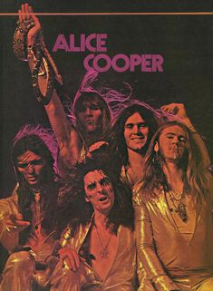 """rockandrollpicsandthings: """" The Alice Cooper Band, tour poster 1972 """" Alice Copper, Coopers Rock, Detroit, Classic Rock Bands, Tour Posters, Punk, The Villain, Glam Rock, Concert Posters"""