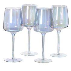 92ab5581124c Set of 4 Iridescent White Wine Glass