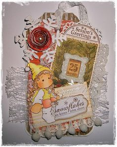Christmas Tags Number 2  using Magnolia images and doohickey dies from www.magnoliastamp... #cards #crafts