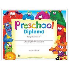 preschool diploma printable