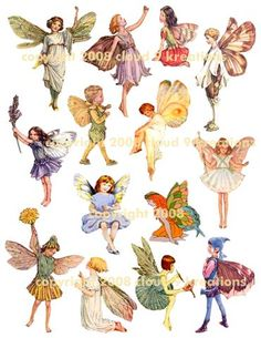Sheet 2 Fairies Fairy Collage