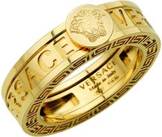 Medusa Head Gold Ring by Versace Versace Ring Mens, Versace Jewelry, Versace Men, Luxury Jewelry, Modern Jewelry, Gianni Versace, Dress Jewellery, Versace Gold, Key Jewelry