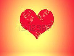 Corazón de fuego Foto de archivo
