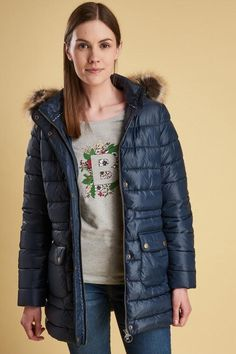 07237dba Barbour Redpoll Ladies Quilt Coat - Navy - LQU0975NY71 - Smyths Country  Sports Barbour, Line
