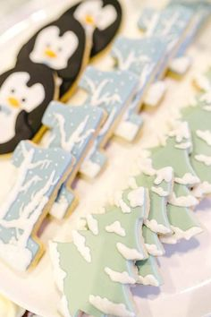 Sugar cookies from an Arctic Animal Birthday Party on Kara's Party Ideas | KarasPartyIdeas.com (30)