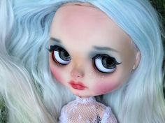 Cloud. Blythe Doll with Blue Hair