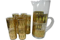 Stained-Glass Cocktail Set, 7 Pcs