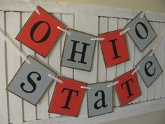 The Ohio State Banner Scarlet and Gray Garland by EncoreBanners