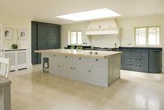 * 2 paint colours in kitchen * Plain English Collection - Newcastle Kitchen Designs
