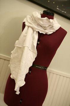 ruffled t-shirt scarf
