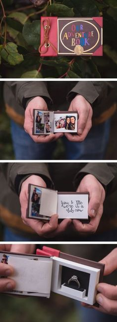 Awesome Custom Ring Box inspired by the movie UP! This was the perfect surprise for this adventurous couple! Watch the Proposal here:… Wedding Proposals, Marriage Proposals, Hoco Proposals, Ideias Diy, Dear Future Husband, Before Wedding, Marry Me, Diy Gifts, Xmas Gifts