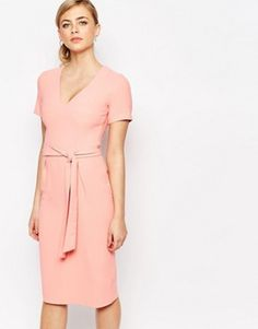 Oasis Wiggle Belted Dress