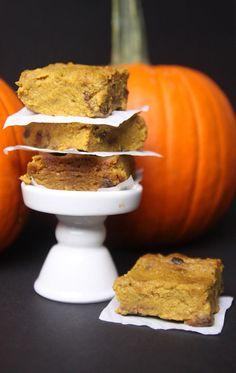 Chocolate chip pumpkin pie bars recipe- gluten free, grain free, dairy free, paleo friendly