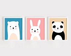 TRYPTYK DO POKOJU DZIECKA A4 - black-dot-studio - Plakaty dla dzieci