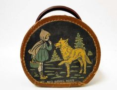 Vintage 'Red Riding Hood' Hard Case Carrying Purse Lunch Box Childs Suit Case, better pic than the other one I pinned