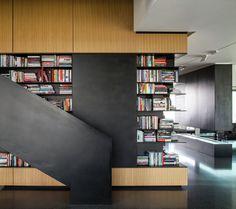 The Art Collector Penthouse by Pitsou Kedem Architects Pitsou Kedem, Eden Design, Beautiful Interior Design, Apartment Design, Luxury Homes, Luxurious Homes, Interior Inspiration, Bookcase, Bookshelves