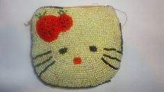 Beaded hello kitty purse by PatsapearlsBoutique on Etsy, $19.99