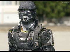 Vested Series - Police Art WIP by Mike Andrew Nash Mike Andrew Nash is a Artist from Brisbane, Military Gear, Military Police, Tactical Armor, Futuristic Armour, Airsoft Helmet, Sci Fi Armor, Future Soldier, Cyberpunk Character, Armor Concept