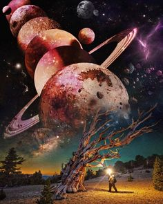 please use the two words 1 galaxy 2 planet along with the picture provided to write a stunning p # SULTANGAZI SEARCH Wallpaper Earth, Planets Wallpaper, Wallpaper Space, Scenery Wallpaper, Tumblr Wallpaper, Galaxy Wallpaper, Fantasy Landscape, Fantasy Art, Galaxy Wonder