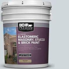 BEHR Premium 5 gal. #MS-65 Winter Days Elastomeric Masonry, Stucco and Brick Paint