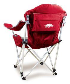 Loving this Arkansas Razorbacks Reclining Camp Chair on #zulily! #zulilyfinds
