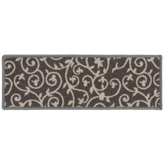 """Modern Scroll Non-Slip Stair Treads - On Sale - Overstock - 29256031 - 8.6"""" x 26"""" (Set of 13) Rug Over Carpet, Carpet Stair Treads, Mid-century Modern, Contemporary, Trellis Design, Paisley Design, Decorating Small Spaces, Online Home Decor Stores"""