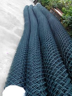 QYM-plastic chain link fence