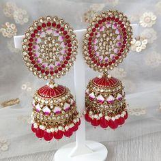 Jhumki Earrings, Dangle Earrings, Crochet Earrings, Silver Paint, Dangles, Jewels, Gold, Handmade, Crafts