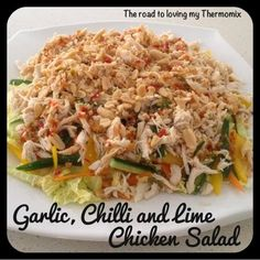 The lovely Lisa pointed me in the direction of this salad recipe from the recipe community. This is now my favourite summer meal. It was delicious and there was Wrap Recipes, Paleo Recipes, Asian Recipes, Dinner Recipes, Cooking Recipes, Lime Chicken, Chicken Salad, Dinner Salads, Dinner Menu