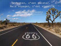""""""" Rester, c'est exister. Mais voyager, c'est vivre."""" George Brassens #Citations"""