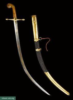 A FINE OTTOMAN SWORD (SHAMSHIR) WITH GOLD-MOUNTED SCABBARD, TURKEY, 19TH CENTURY