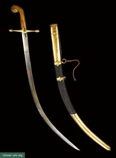 A FINE OTTOMAN SWORD (SHAMSHIR) WITH GOLD-MOUNTED SCABBARD, TURKEY, 19TH CENTURY