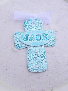 personalized cross polymer clay