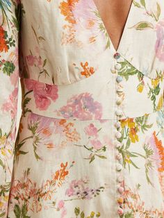 Super Ideas for dress outfit floral summer Summer Dress Outfits, Summer Fashion Outfits, Zimmermann, Printed Linen, Plus Size Wedding, Trends, Trendy Dresses, Trendy Clothing, Linen Dresses