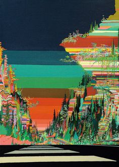 Psychedelic Paintings of Landscapes                                                                                                                                                      More