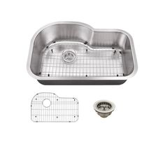 ONE FOR KITCHEN PLUS ONE BACKUP, Schon All-in-One Undermount Stainless Steel 31.5 in. Single Bowl Kitchen Sink