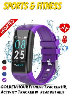 GOLDEN HOUR Fitness Tracker HR, Activity Tracker with Heart Rate Monitor, IP67 Waterproof Smart Bracelet with Step, Calorie Counter, Sleep Monitor, Pedometer, Health Watch for Men Women Kids ... (This is an affiliate link) Best Fitness Tracker, Calorie Counter, O 8, Smart Bracelet, Heart Rate Monitor, Golden Hour, Fitbit, Watches For Men, Sleep