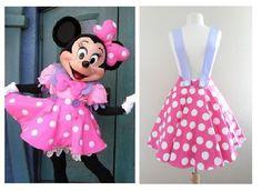 Minnie Mouse Jumbo Polkadots Skirt 2X 3XL Pilot Sale Dapper Skirt 1950s | eBay